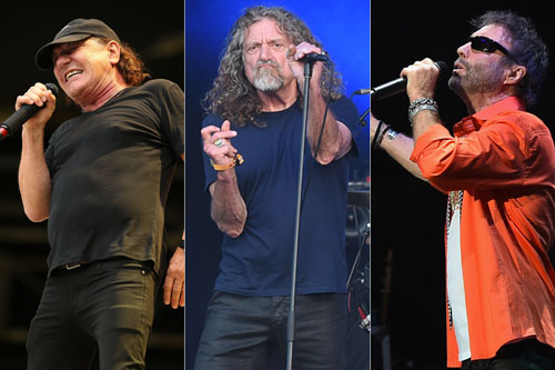 Brian Johnson, Robert Plant y Paul Rodgers