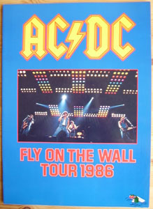 AC/DC Fly On The Wall Tour 1986