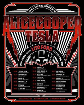 Alice Cooper,  TESLA y Lita Ford