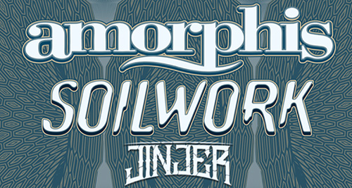 AMORPHIS + SOILWORK, JINJER y NAILED TO OBSCURITY