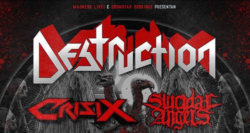 DESTRUCTION + CRISIX + SUICIDAL ANGELS - Thrash Alliance en Barcelona, Madrid y Bilbao