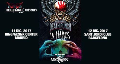 FIVE FINGER DEATH PUNCH + IN FLAMES + OF MICE AND MEN