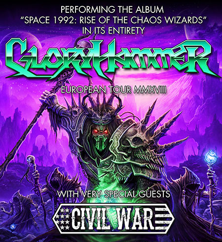 GLORYHAMMER y CIVIL WAR: Cambio de sala en Madrid