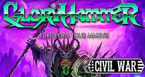 GLORYHAMMER y CIVIL WAR: Cambio de sala en Madrid.