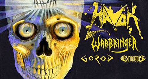 HAVOK + Warbringer + Gorod + Exmortus el 26 y 27 de abril en Madrid y Barcelona