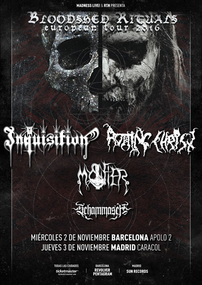 INQUISITION + ROTTING CHRIST + MYSTIFIER + SCHAMMASCH