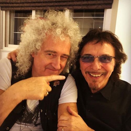 Brian May y Tony  Iommi