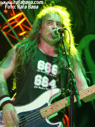 Steve Harris de Iron Maiden en Madrid. Foto: Basa