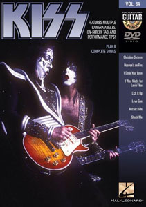 KISS Guitar Play Along Volume 34