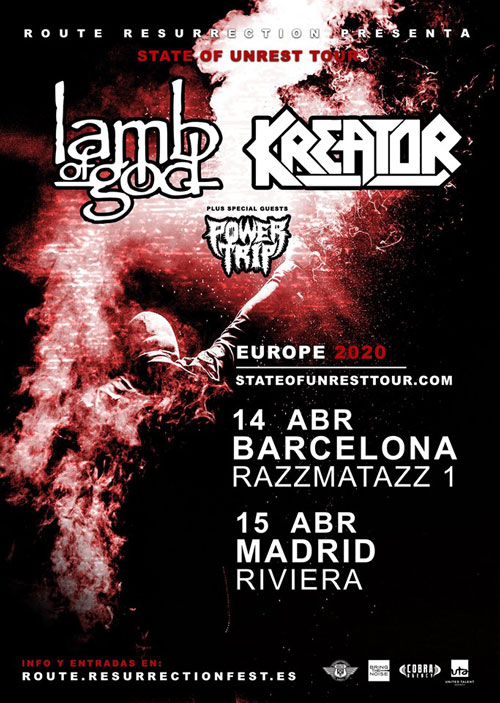 LAMB OF GOD y KREATOR