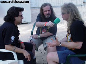 Roland, Basa y Francis de AFM en la entrevista