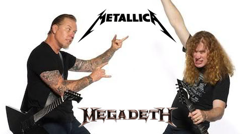 Hetfield y Mustaine