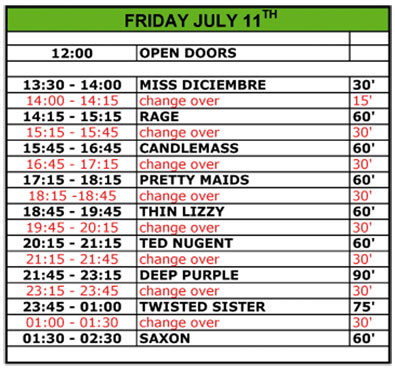 Horarios Monsters