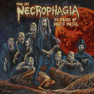 NECROPHAGIA - Here Lies NECROPHAGIA; 35 Years of Death Metal