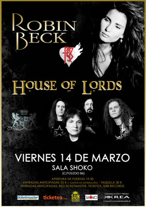 ROBIN BECK + HOUSE OF LORDS