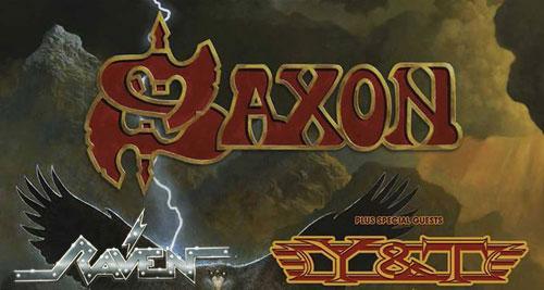 SAXON + Y&T + RAVEN en Madrid, Bilbao, Barcelona