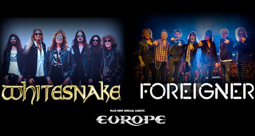 WHITESNAKE, FOREIGNER Y EUROPE