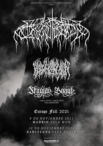 WOLVES IN THE THRONE ROOM + BLOOD INCANTATION + STYGIAN BOUGH en Noviembre de 2021